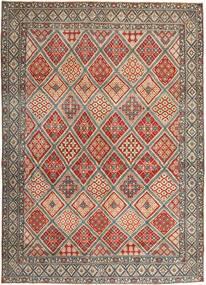 Nain Patina Tæppe 287X395 Ægte Orientalsk Håndknyttet Lysebrun/Lysegrå Stort (Uld/Silke, Persien/Iran)