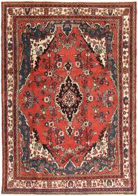 Hamadan Patina Tæppe 207X297 Ægte Orientalsk Håndknyttet Mørkebrun/Mørkerød (Uld, Persien/Iran)