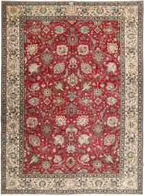 Tabriz Patina Tæppe 284X390 Ægte Orientalsk Håndknyttet Mørkebrun/Lysegrå Stort (Uld, Persien/Iran)