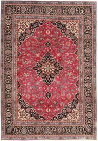 Mashad Patina Tæppe 195X278 Ægte Orientalsk Håndknyttet Mørkerød/Rust (Uld, Persien/Iran)