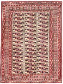 Turkaman Patina Tæppe 131X177 Ægte Orientalsk Håndknyttet Mørkerød/Brun (Uld, Persien/Iran)