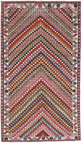 Hamadan Patina Tæppe 107X200 Ægte Orientalsk Håndknyttet Mørkegrå/Mørkerød (Uld, Persien/Iran)