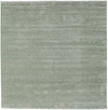 Handloom Fringes - Soft Teal Tæppe 250X250 Moderne Kvadratisk Lysgrøn Stort (Uld, Indien)