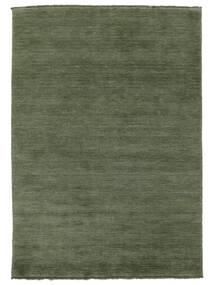 Handloom Fringes - Skovgrøn Tæppe 160X230 Moderne Mørkegrøn/Mørkegrøn (Uld, Indien)