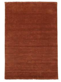 Handloom Fringes - Rustrød Tæppe 160X230 Moderne Rust/Mørkerød (Uld, Indien)