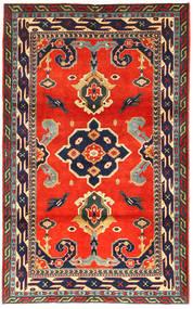 Kazak Tæppe 105X173 Ægte Orientalsk Håndknyttet Mørkegrå/Rød (Uld, Azarbaijan/Rusland)