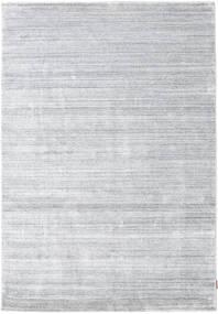 Bambus Silke Loom - Grå Tæppe 160X230 Moderne Hvid/Creme/Lysegrå ( Indien)