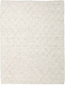 Rut - Is Blå Melange Tæppe 250X350 Ægte Moderne Håndvævet Lysegrå/Mørk Beige Stort (Uld, Indien)