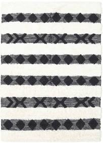 Shaula - Sort/Hvid Tæppe 160X230 Ægte Moderne Håndvævet Mørkegrå/Beige/Hvid/Creme (Uld, Indien)