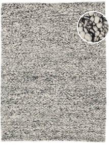 Bubbles - Melange Grå Tæppe 200X300 Moderne Lysegrå/Turkis Blå (Uld, Indien)