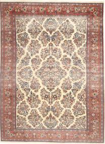 Sarough Patina Tæppe 200X280 Ægte Orientalsk Håndknyttet Beige/Mørkebrun (Uld, Persien/Iran)