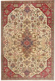 Tabriz Patina Tæppe 190X280 Ægte Orientalsk Håndknyttet Lysebrun/Mørk Beige (Uld, Persien/Iran)