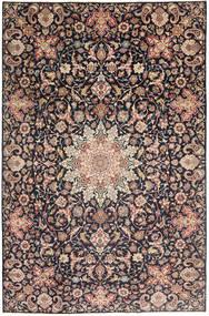 Najafabad Patina Tæppe 235X360 Ægte Orientalsk Håndknyttet Mørkegrå/Mørkerød (Uld, Persien/Iran)