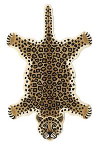 Leopard - Beige Tæppe 100X160 Moderne Sort/Lysebrun/Beige (Uld, Indien)