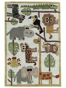 Zoo Handtufted Tæppe 120X180 Moderne Lyseblå/Lysegrå (Uld, Indien)