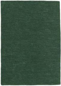 Kelim Loom - Skovgrøn Tæppe 160X230 Ægte Moderne Håndvævet Mørkegrøn (Uld, Indien)