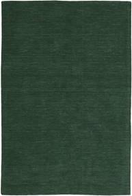 Kelim Loom - Skovgrøn Tæppe 300X400 Ægte Moderne Håndvævet Mørkegrøn Stort (Uld, Indien)