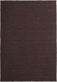 Kelim Loom - Mørkebrun Tæppe 200X300 Ægte Moderne Håndvævet Mørkebrun (Uld, Indien)