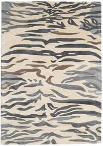 Love Tiger - Grå Tæppe 160X230 Moderne Beige/Mørkegrå/Lysegrå ( Indien)