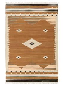 Tribal - Sennep Tæppe 160X230 Ægte Moderne Håndvævet Brun/Lysebrun (Uld, Indien)