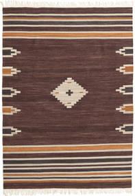 Tribal - Brun Tæppe 160X230 Ægte Moderne Håndvævet Mørkebrun/Mørkerød (Uld, Indien)
