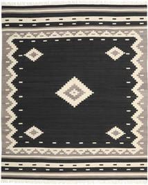 Tribal - Sort Tæppe 250X300 Ægte Moderne Håndvævet Sort/Beige Stort (Uld, Indien)