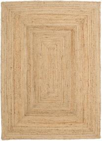 Udendørs Tæppe Frida - Natural Tæppe 160X230 Ægte Moderne Håndvævet Mørk Beige/Beige (Jutetæppe Indien)