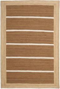 Frida Stripe - Brun Tæppe 200X300 Ægte Moderne Håndvævet Brun/Mørk Beige ( Indien)