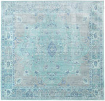 Maharani - Blå Tæppe 200X200 Moderne Kvadratisk Lyseblå/Turkis Blå ( Tyrkiet)