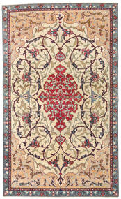 Najafabad Patina Tæppe 140X236 Ægte Orientalsk Håndknyttet Beige/Mørkebrun (Uld, Persien/Iran)