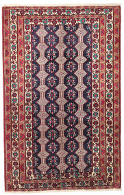 Beluch Patina Tæppe 132X206 Ægte Orientalsk Håndknyttet Mørkelilla/Beige (Uld, Persien/Iran)