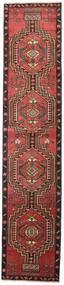 Ardebil Patina Tæppe 81X385 Ægte Orientalsk Håndknyttet Tæppeløber Mørkerød/Sort (Uld, Persien/Iran)