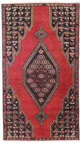 Saveh Patina Tæppe 98X176 Ægte Orientalsk Håndknyttet Sort/Mørkerød (Uld, Persien/Iran)