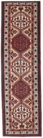 Sarab Patina Tæppe 100X345 Ægte Orientalsk Håndknyttet Tæppeløber Mørkebrun/Mørkerød (Uld, Persien/Iran)