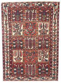 Bakhtiar Patina Tæppe 110X152 Ægte Orientalsk Håndknyttet Mørkerød/Mørkebrun (Uld, Persien/Iran)