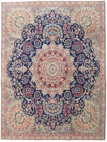 Kerman Patina Tæppe 230X305 Ægte Orientalsk Håndknyttet Lysegrå/Mørk Beige (Uld, Persien/Iran)