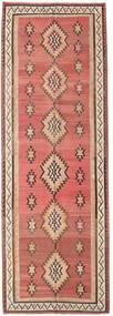 Kelim Fars Tæppe 155X460 Ægte Orientalsk Håndvævet Tæppeløber Mørkerød/Mørkebrun (Uld, Persien/Iran)