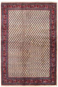 Sarough Mir Tæppe 129X194 Ægte Orientalsk Håndknyttet Mørkelilla/Beige (Uld, Persien/Iran)
