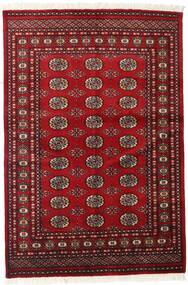 Pakistan Bokhara 2Ply Tæppe 126X186 Ægte Orientalsk Håndknyttet Mørkerød/Rød (Uld, Pakistan)