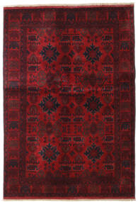 Afghan Khal Mohammadi Tæppe 132X189 Ægte Orientalsk Håndknyttet Mørkerød/Mørkebrun (Uld, Afghanistan)