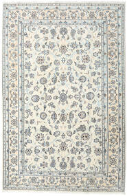 Nain Tæppe 198X301 Ægte Orientalsk Håndknyttet Beige/Lysegrå (Uld, Persien/Iran)
