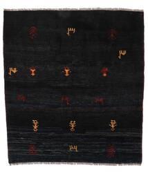 Gabbeh Rustic Tæppe 153X169 Ægte Moderne Håndknyttet Sort (Uld, Persien/Iran)