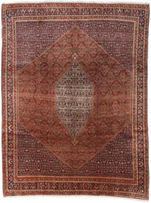 Bidjar Tæppe 285X374 Ægte Orientalsk Håndknyttet Mørkebrun/Mørkerød Stort (Uld, Persien/Iran)
