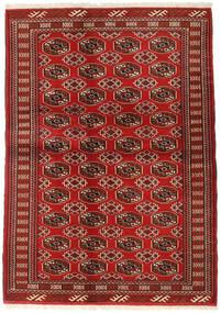 Turkaman Tæppe 130X182 Ægte Orientalsk Håndknyttet Mørkerød/Rust (Uld, Persien/Iran)
