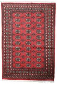 Pakistan Bokhara 2Ply Tæppe 139X203 Ægte Orientalsk Håndknyttet Mørkerød/Rust (Uld, Pakistan)