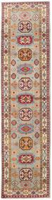 Kazak Tæppe 86X349 Ægte Orientalsk Håndknyttet Tæppeløber Lysebrun/Lysegrå (Uld, Afghanistan)