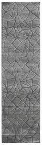 Patio - Grå Tæppe 100X350 Moderne Tæppeløber Mørkegrå/Lysegrå ( Tyrkiet)