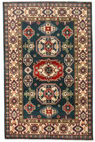 Kazak Tæppe 120X184 Ægte Orientalsk Håndknyttet Mørkeblå/Mørkerød (Uld, Afghanistan)