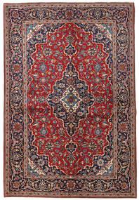 Keshan Tæppe 149X223 Ægte Orientalsk Håndknyttet Mørkerød/Mørkelilla (Uld, Persien/Iran)