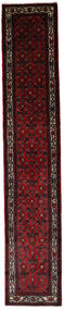 Asadabad Tæppe 83X447 Ægte Orientalsk Håndknyttet Tæppeløber Mørkebrun/Mørkerød (Uld, Persien/Iran)